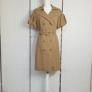 BEBE Short Puff Sleeve Trench Coat